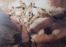 En fonction du poète, ce détail d'un dessin de Victor Hugo, censé représenté les ruines d'un aqueduc, n'est pas loin du Cri de Munch