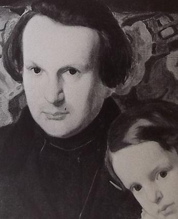 Portrait de Victor Hugo et de son fils François-Victor, en 1836.
