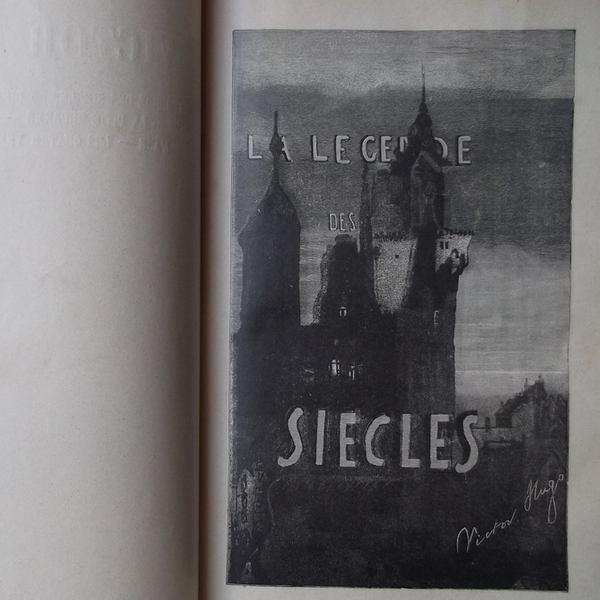 Dessin de Victor Hugo à l'encre représentant un château et le titre manuscrit La Légende des siècles.