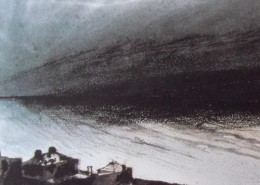 Face à un horizon tourmenté, de petites maisons veillent. Mes vers fuiraient...