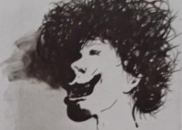 Ce détail d'un dessin de Victor Hugo représente la tête hirsute d'un enfant de onze ans (Gavroche). Il porte les stigmates de la guerre civile de la misère.