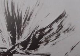 Ce détail d'un dessin de Victor Hugo représente un battement d'ailes dans l'air. Un ange ou un oiseau ?