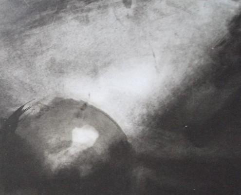Ce détail d'un dessin de Victor Hugo représente la Terre roulant dans l'univers, caressée par la lumière.