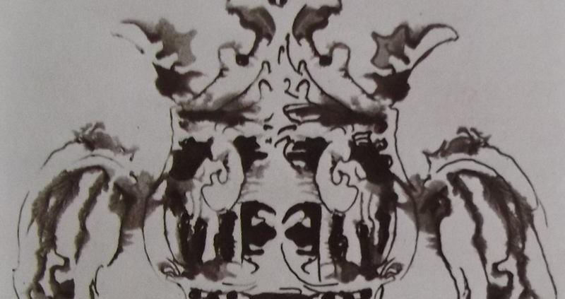 Ce détail d'un dessin de Victor Hugo représente un vase aux anses étranges et dont le couvercle ressemble à un cimier. (Peut-il être un pot cassé ?)