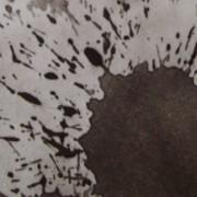 Ce détail d'un dessin de Victor Hugo représente une tache et ses éclaboussures collatérales.