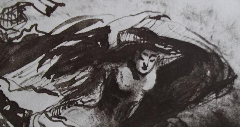 Apparition et sacre de la femme, Ève, qui sort de l'onde, de la terre ou d'un voile, au premier jour du monde.