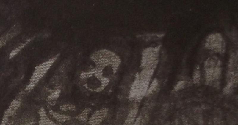 Ce détail d'un dessin de Victor Hugo représente les ombres de pauvres formes tourmentées par la chanson de la misère.