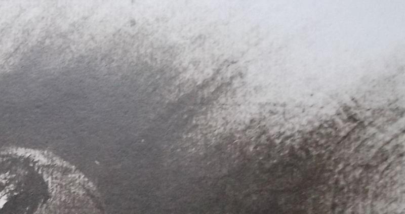 Ce détail d'un dessin de Victor Hugo représente la Terre et l'approche de la comète de Halley, annoncée par ses ondes.