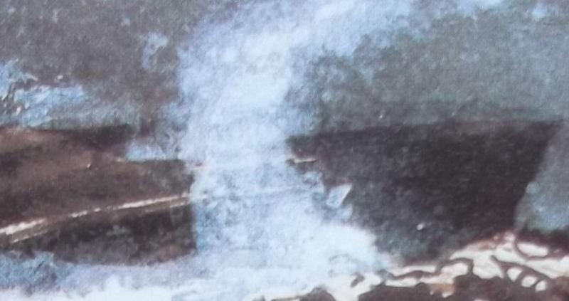 Ce détail d'un dessin de Victor Hugo représente la gerbe d'une vague de l'océan, telle une étoile nommé Stella surgissant dans la nuit.