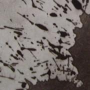 Ce détail d'un dessin de Victor Hugo représente deux taches collées l'une à l'autre, et leurs éclaboussures.