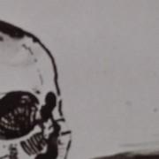 Ce détail d'un dessin de Victor Hugo représente les yeux d'une tête de mort, quand le corps est rendu à la nature, et que les os prennent la majesté des marbres.