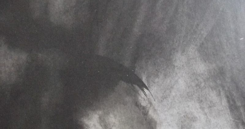 Ce détail d'un dessin de Victor Hugo représente un globe entre l'ombre et la lumière. Au-dessus, dans l'ombre à gauche, on distingue une face inquiétante.