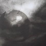 Ce détail d'un dessin de Victor Hugo représente la Terre, astre dans les cieux.
