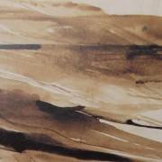 Ce détail d'un dessin de Victor Hugo représente des dunes en bord d'océan. Des paroles, invisibles à l'œil, y naissent.