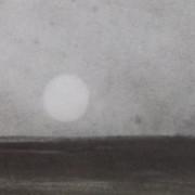 Ce détail d'un dessin de Victor Hugo représente l'horizon, et le soleil vu par une marguerite.