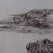 Ce détail d'un dessin de Victor Hugo représente un nuage qui passe, à l'image de la vie, fugitive pour ceux qui nous quittent.