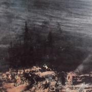 Ce détail d'un dessin de Victor Hugo représente les ruines englouties d'une cité (peut-être la pensée humaine ?) qui semble flotter entre deux eaux.