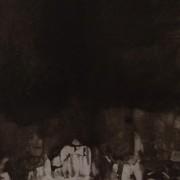 Ce détail d'un dessin de Victor Hugo représente, sous l'ombre, une forme imperceptible qui rampe.
