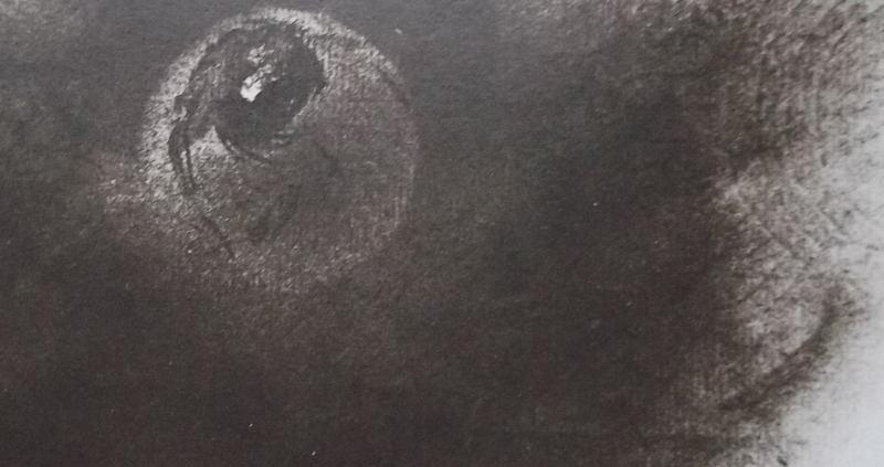 Ce détail d'un dessin de Victor Hugo représente la Terre dans son voyage de nuit.
