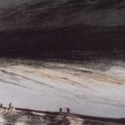 Ce détail d'un dessin de Victor Hugo représente un bord de mer qui est peut-être le quai d'Anvers (d'où Alexandre Dumas vint saluer Victor Hugo partant pour l'exil).