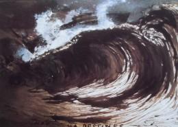 Ce détail d'un dessin de Victor Hugo représente le rouleau du destin qui a séparé le poète de sa fille Léopoldine, par la mort et par l'exil.
