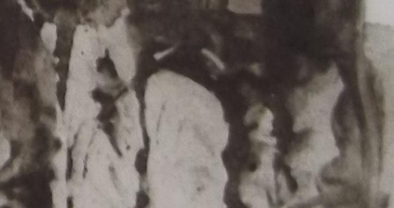 Ce détail d'un dessin de Victor Hugo représente les ombres torturées des douleurs et des combats d'une mère.