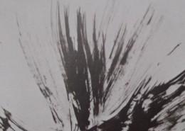 Ce détail d'un dessin de Victor Hugo représente une gerbe, qui jaillit des plumes d'un oiseau, tandis que lisent des enfants (que l'on ne voit pas).