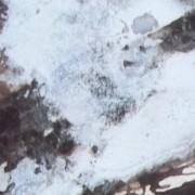 Ce détail d'un dessin de Victor Hugo représente le voile d'écume de la vague profonde.