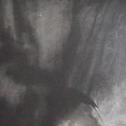 Ce détail d'un dessin de Victor Hugo représente l'ombre d'un ange au-dessus de la terre.