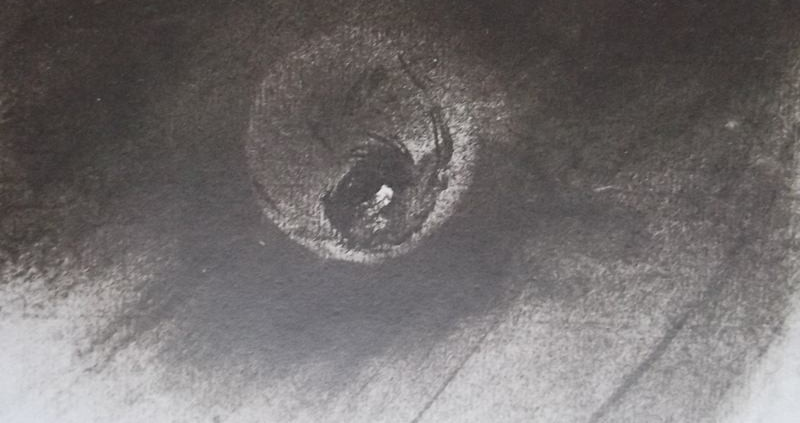 """Ce détail d'un dessin de Victor Hugo représente """"Vénus qui brille sur les monts""""."""