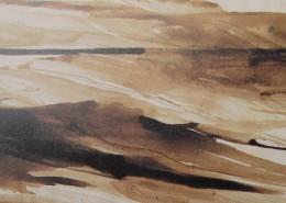 """Ce détail d'un dessin de Victor Hugo représente, en douces ondulations sable, """"la chanson des amours""""."""