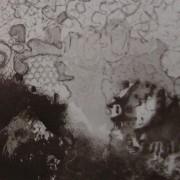Ce détail d'un dessin de Victor Hugo représente une maison entourée d'ombres et de dentelles (celles de l'art dans la pensée ?).