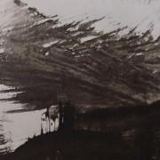 Ce détail d'un dessin de Victor Hugo représente une demeure sous l'orage.