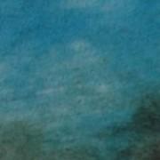 Ce détail d'un dessin de Victor Hugo représente la vaste clarté du firmament, d'un bleu mêlé d'ombres blanches et noires.