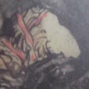 """Ce détail d'un dessin de Victor Hugo représente la tête tournée d'une femme à laquelle le poète s'adresse : Tu ne veux pas aimer, méchante ?""""."""