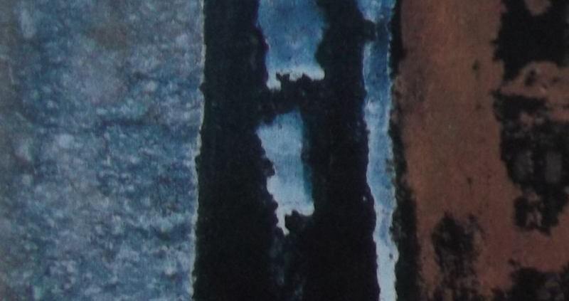 Ce détail d'un dessin de Victor Hugo représente, de façon abstraite, la propagation du bleu dans les creux de l'ombre.