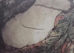 Ce détail d'un dessin de Victor Hugo représente le dos nu d'une femme allongée.