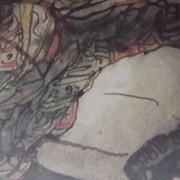 Ce détail d'un dessin de Victor Hugo représente le dos renversé d'une femme qui aime.