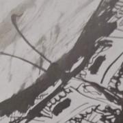 Ce détail d'un dessin de Victor Hugo représente Psyché, une âme, un papillon avec ses antennes.