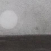 """Ce détail d'un dessin de Victor Hugo représente la Luna, """"le fanal solitaire"""" qui éclaire l'horizon."""