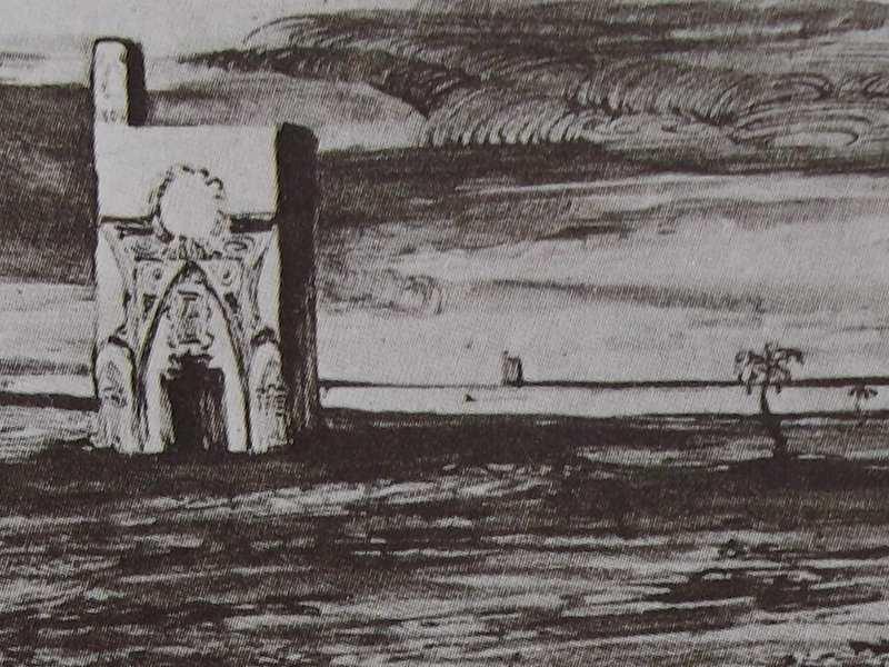 Ce Détail Du0027un Dessin De Victor Hugo Représente Un édifice Oriental, Dans  Une