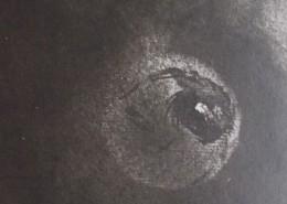 """Ce détail d'un dessin de Victor Hugo représente la Terre, """"tempête d'âmes"""", qui porte des """"berceaux endormis""""."""