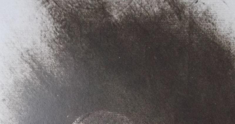 Ce détail d'un dessin de Victor Hugo représente les ondes émises par la voix du poète s'adressant au monde, du haut vers le bas, là où apparaît la terre.