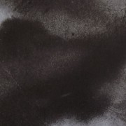 """Ce détail d'un dessin de Victor Hugo représente un """"grand nuage obscur posé sur l'horizon""""."""